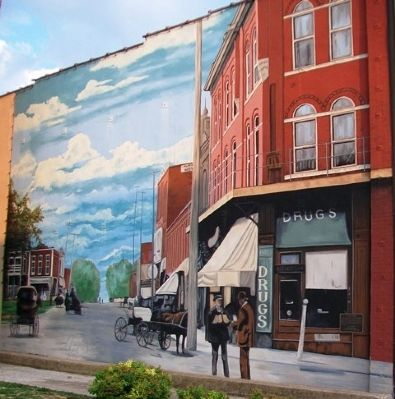 Locust Street Mural and Marker image. Click for full size.