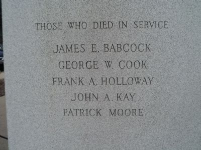 Rear Inscription on Monument image. Click for full size.