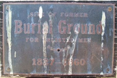Site of Former Burial Ground Marker image. Click for full size.