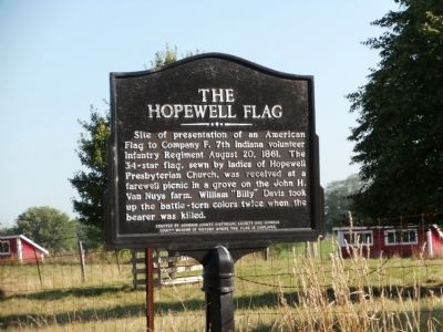 The Hopewell Flag Marker image. Click for full size.