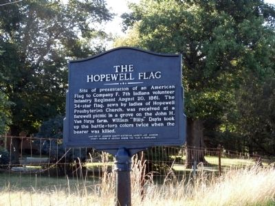 Side B - - The Hopewell Flag Marker image. Click for full size.