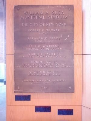 William A. Shea Municipal Stadium Marker - Mets Museum image. Click for full size.