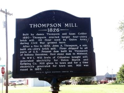 Side B - - Thompson Mill Marker image. Click for full size.