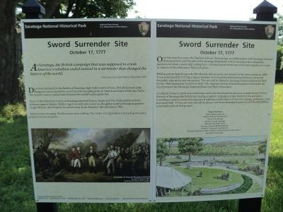 Sword Surrender Site Markers image. Click for full size.