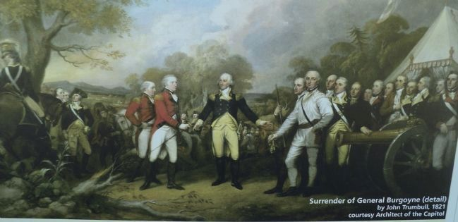 Surrender of General Burgoyne from the Marker image. Click for full size.