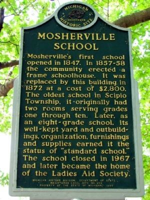 Mosherville School Marker image. Click for full size.