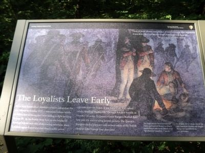 The Loyalists Leave Early Marker image. Click for full size.
