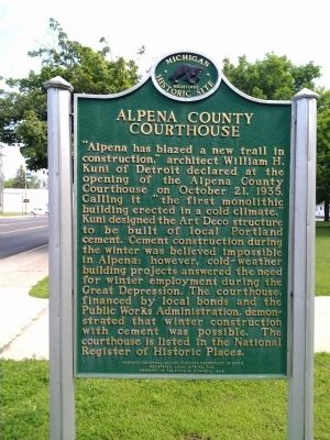 Alpena County Courthouse Marker image. Click for full size.