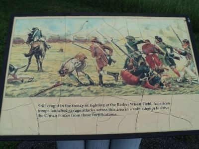 Americans Attack Marker image. Click for full size.