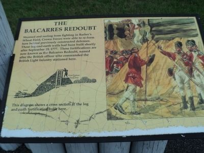 The Balcarres Redoubt Marker image. Click for full size.