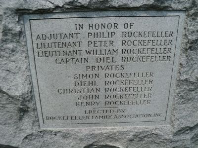 Rockefeller Memorial Marker image. Click for full size.