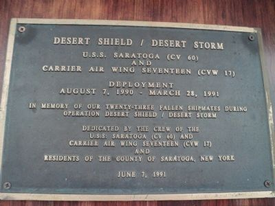 Desert Shield / Desert Storm Marker image. Click for full size.