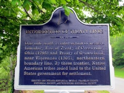 Intersection of Treaty Lines Marker image. Click for full size.
