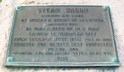 Steam Wagon Marker image. Click for full size.
