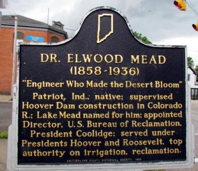 Dr. Elwood Mead Marker image. Click for full size.