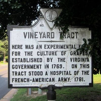 Vineyard Tract Marker image. Click for full size.
