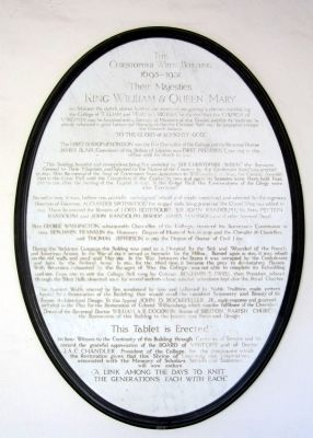 The Christopher Wren Building Marker image. Click for full size.