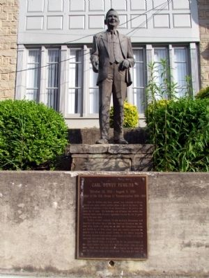 Carl Dewey Perkins Statue and Marker image. Click for full size.