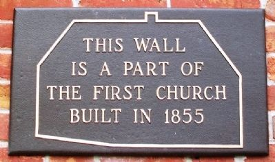 First UMC Original 1855 Wall Marker image. Click for full size.