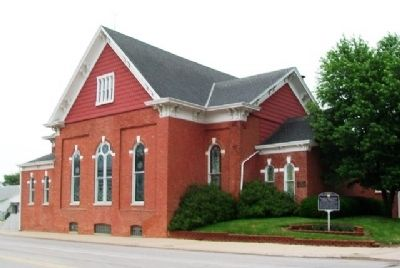First United Methodist Church and Markers image. Click for full size.