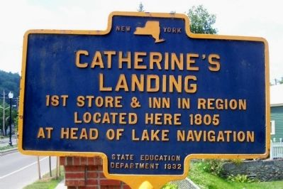 Catherine's Landing Marker image. Click for full size.