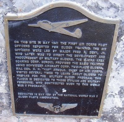 World War II Glider Training at Harris Hill Marker image. Click for full size.