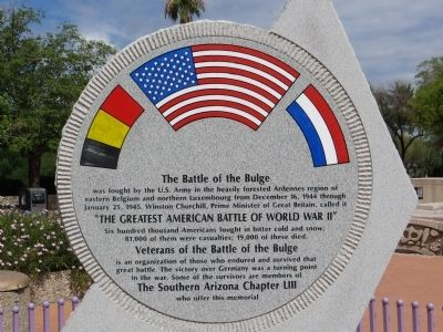 Veterans of the Battle of the Bulge Marker Photo, Click for full size