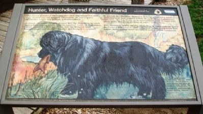 Hunter, Watchdog and Faithful Friend Marker image. Click for full size.