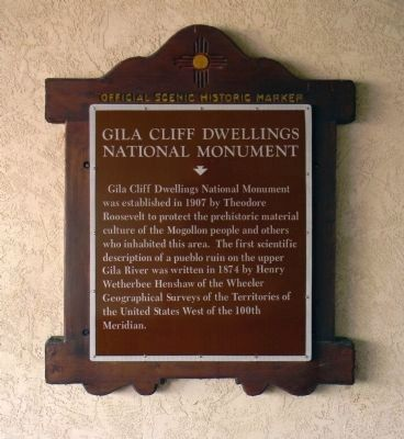 Gila Cliff Dwellings National Monument Marker image. Click for more information.