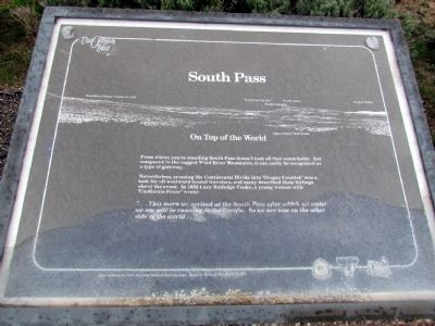 South Pass Marker image. Click for full size.
