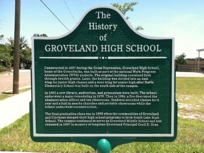 The History of Groveland High School Marker image. Click for full size.