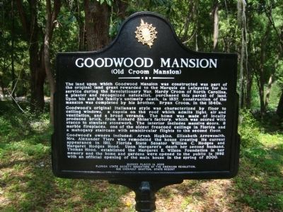 Goodwood Mansion Marker image. Click for full size.