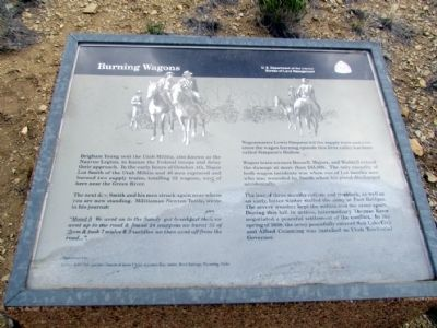 Burning Wagons Marker image. Click for full size.