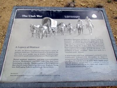 The Utah War Marker image. Click for full size.