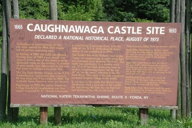 Caughnawaga Interpretive Sign image. Click for full size.