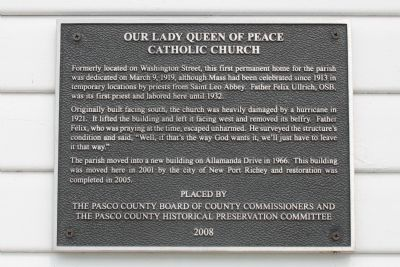 Our Lady Queen of Peace Catholic Church Marker image. Click for full size.