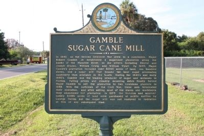 Gamble Sugar Cane Mill Marker image. Click for full size.