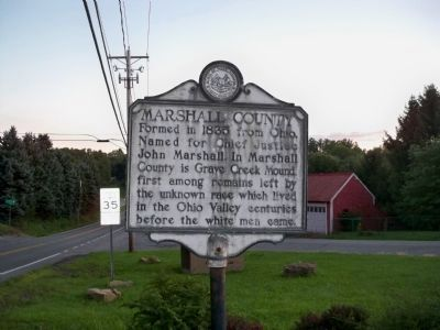 Marshall County Marker Photo, Click for full size