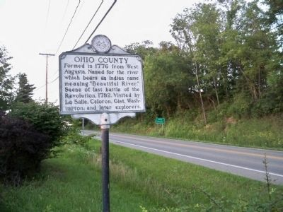 Ohio County Marker Photo, Click for full size