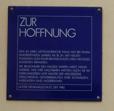 Zur Hoffnung Marker image. Click for full size.