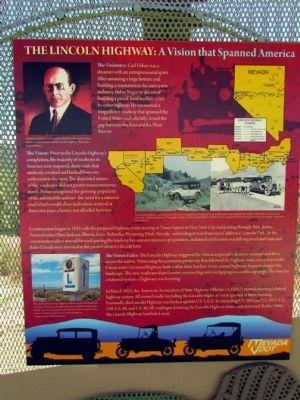 The Lincoln Highway Marker image. Click for full size.