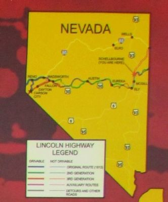 Lincoln Highway Route in Nevada image. Click for full size.