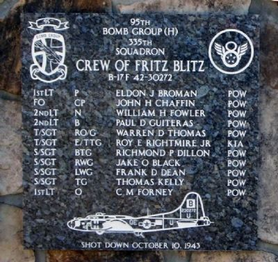 Crew Of Fritz Blitz Marker image. Click for full size.
