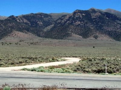 View to East across US 50 towards Cold Springs Station Location image. Click for full size.