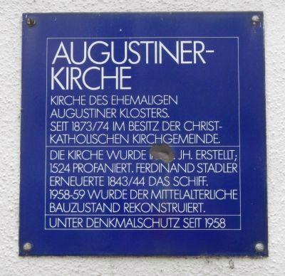 Augustinerkirche Marker image. Click for full size.
