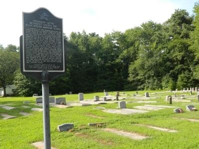 Marker and Church Cemetery image. Click for full size.
