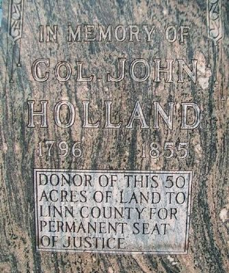Colonel John Holland Marker Detail Photo, Click for full size
