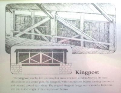 [Covered Bridge] Truss Structures and Truss Variations Marker - Kingpost image. Click for full size.