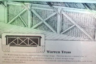 [Covered Bridge] Truss Structures and Truss Variations Marker - Warren Truss image. Click for full size.