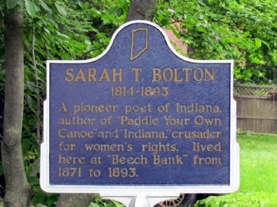 Sarah T. Bolton Marker image. Click for full size.